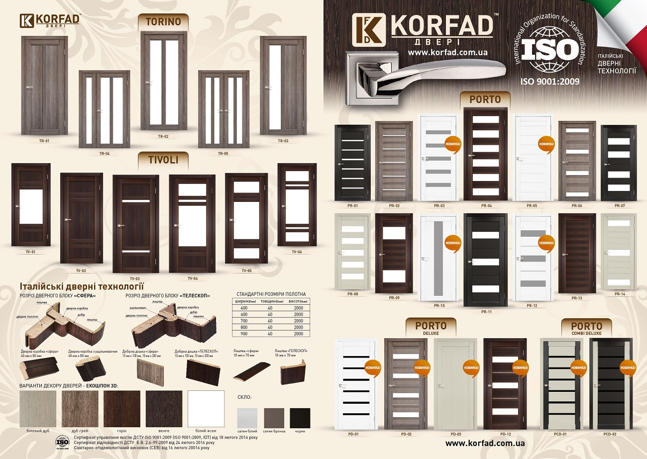 Межкомнатные двери Korfad фото 42